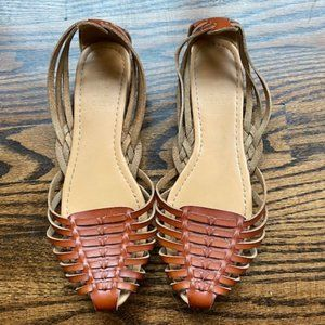 J Crew brown leather sandals size 9/9.5